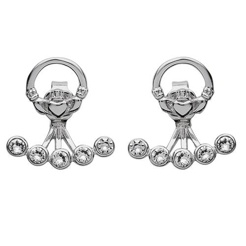 Image for Shanore Sterling Silver Swarovski Claddagh Earrings