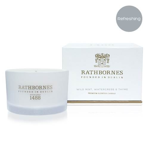 Image for Rathbornes 1488 Wild Mint, Watercress and Thyme Scented Travel Candle