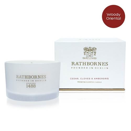 Image for Rathbornes 1488 Cedar, Cloves and Ambergris Scented Travel Candle