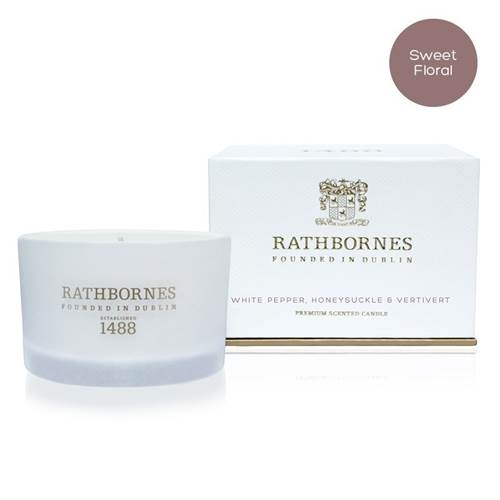 Image for Rathbornes 1488 White Pepper, Honeysuckle and Vertivert Scented Travel Candle