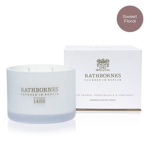 Image for Rathbornes 1488 White Pepper, Honeysuckle and Vertivert Scented Classic Candle