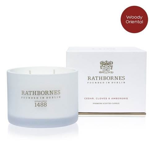 Image for Rathbornes 1488 Cedar, Cloves and Ambergris Scented Classic Candle