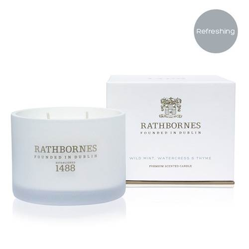 Image for Rathbornes 1488 Wild Mint, Watercress and Thyme Scented Classic Candle