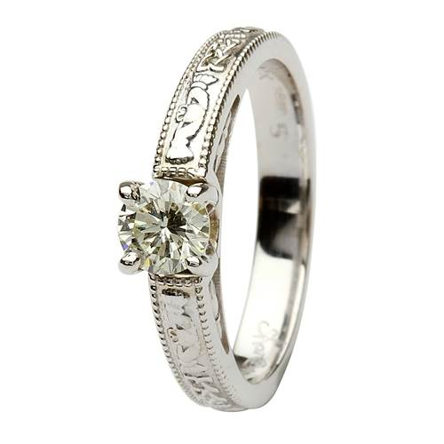 Image for Coleen 14kt White Gold Round Cut Engagement Ring