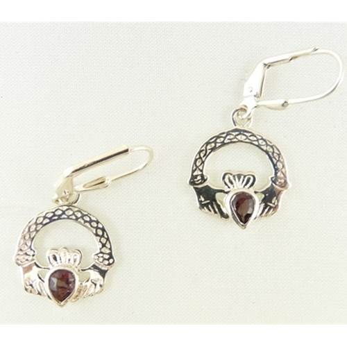 Image for Claddagh Birthstone Earrings June