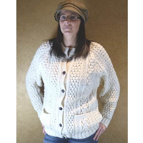 Image for Hand Loomed Traditional Irish Cardigan